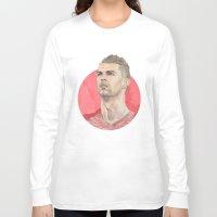 ronaldo Long Sleeve T-shirts featuring Ronaldo by Megan Diño