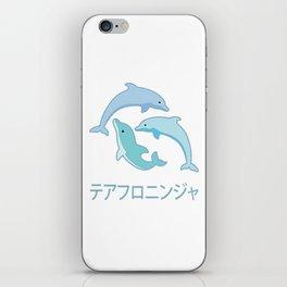 3 Vaporwave Dolphins iPhone Skin