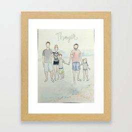 (Do not purchase example art!) customized family portrait Framed Art Print
