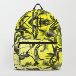 silver in yellow Digital pattern with circles and fractals artfully colored design for house Backpack