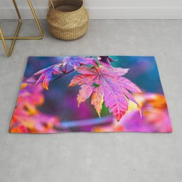 Charming Japanese Maple Tree Leaves In Autumn Rug