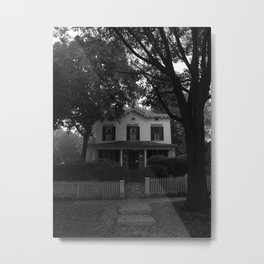 A House I Don't Know on a Street I Do Metal Print