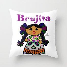 Brujita Throw Pillow