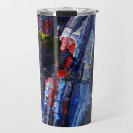 Cap vs Thanos color abstract Travel Mug