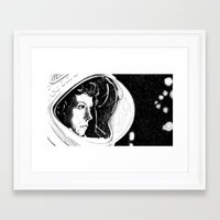 ripley Framed Art Prints featuring Ripley by Molly Kiely
