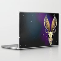 jackalope Laptop & iPad Skins featuring Space Jackalope by Turtlesaur Rex