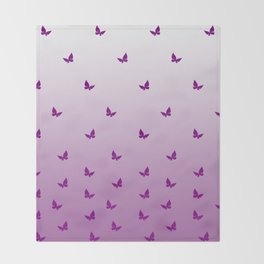 Purple Butterflies Throw Blanket