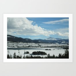 Dillon Reservoir, CO Art Print