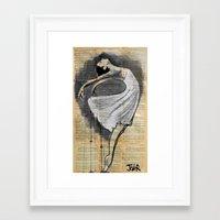 dancer Framed Art Prints featuring dancer by LouiJoverArt
