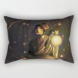 The Watcher of the Night Rectangular Pillow