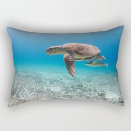 Swimming With Dinosaurs Rectangular Pillow