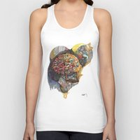 notebook Tank Tops featuring notebook flora by Hayley Powers Studio