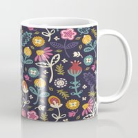 reading Mugs featuring Ditsy Flowers by Poppy & Red