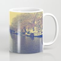 amsterdam Mugs featuring Amsterdam by Devin Stout