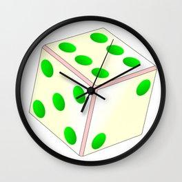 Tumbling Ivory Dice Wall Clock