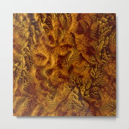 Floral Fantasy 07 golden Metal Print