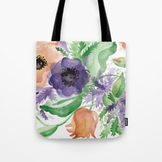Spring Bouquet - Tulips & Anemones Tote Bag