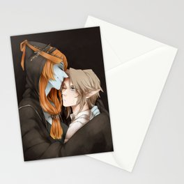 Hat Girl and Wolf Boy Stationery Cards