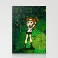 sailor jupiter Stationery Cards featuring Sailor Jupiter by Thedustyphoenix