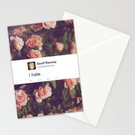 I Hate. Stationery Cards