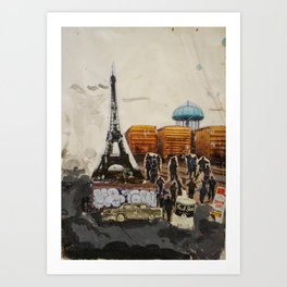 Foucalt in Paris Art Print