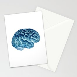 Isolated brain Stationery Cards