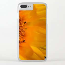 Floral Nature Photograph Close-up Sunflower Clear iPhone Case