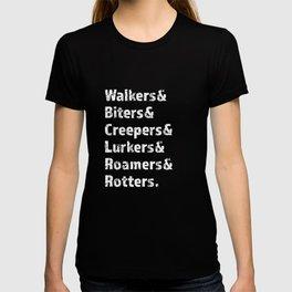 Zombies Nicknames T-shirt