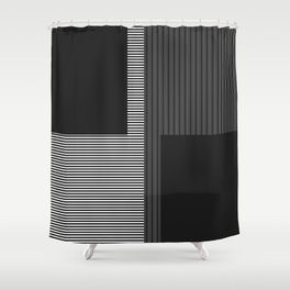 Figaro in Black and White Shower Curtain