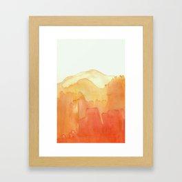Orange Ombre Framed Art Print