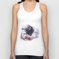 monkey island Tank Tops featuring Monkey by Cristian Blanxer