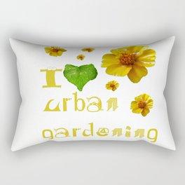 I love urban gardening Rectangular Pillow