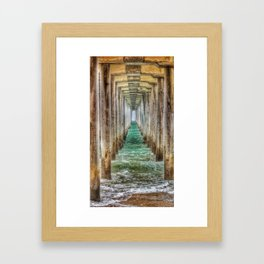Huntington Beach Pier Tunnel Vision Framed Art Print