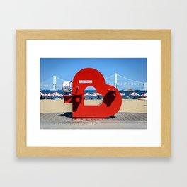Heart-Shaped Drinking Fountain Framed Art Print