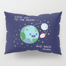 Love You to the Moon and Back Again Pillow Sham