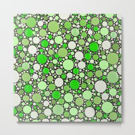 Heaven - Green Polka Dots Metal Print