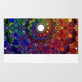 Mandala 46 - Psychedelic Mandala Rainbow series Rug