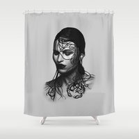 cancer Shower Curtains featuring Cancer  by BeckiBoos