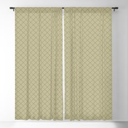 Grape Vine Purple on Earthy Green Parable to 2020 Color of the Year Back to Nature Angled Grid Blackout Curtain