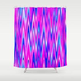 WAVY #1 (Blues, Purples & Fuchsias) Shower Curtain