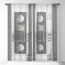 Cassette Tape Black And White #decor #society6 #buyart Sheer Curtain