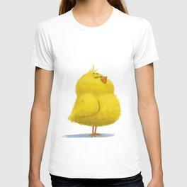 Fluffy yellow chick T-shirt