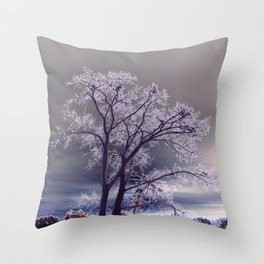 Frosty Scene - Inverted Art Series Throw Pillow