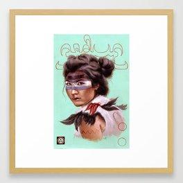 Gobi Gong Farming Girl Framed Art Print