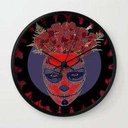 Catrina Flower Wall Clock