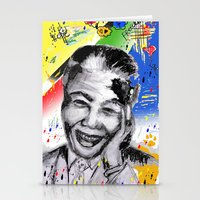 mandela Stationery Cards featuring Mandela forever by sladja
