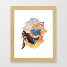 BotW Zelda Framed Art Print