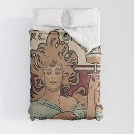 Ruinart Champagne / Alphonse Mucha Comforters
