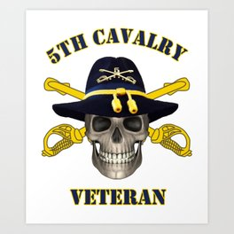 5th Cavalry - for Army Vets of Fifth Cavalry Art Print