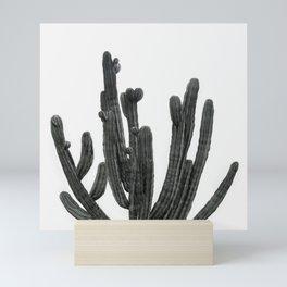 Black and White Cactus Mini Art Print